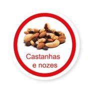 Ficha metálica de alimentos Castanhas e Nozes