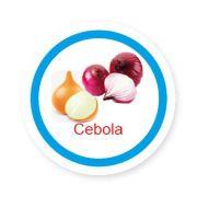 Ficha metálica de alimentos Cebola