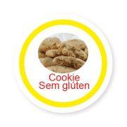 Ficha metálica de alimentos Cookie sem Glúten