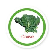 Ficha metálica de alimentos Couve