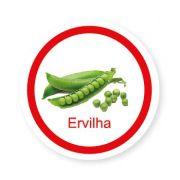 Ficha metálica de alimentos Ervilha