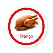 Ficha metálica de alimentos Frango
