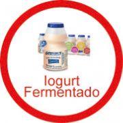 Ficha metálica de alimentos Iogurt fermentado