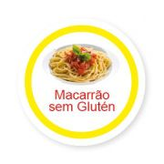 Ficha metálica de alimentos Macarrão sem Glúten