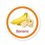 Ficha metálica de alimentos Banana