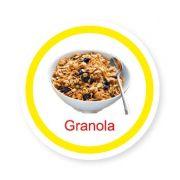 Ficha metálica de alimentos Granola
