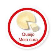 Ficha metálica de alimentos Queijo Meia Cura