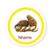 Ficha metálica de alimentos Inhame