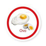 Ficha metálica de alimentos Ovo