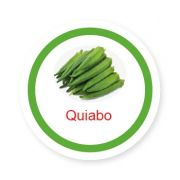 Ficha metálica de alimentos Quiabo