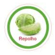 Ficha metálica de alimentos Repolho