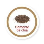 Ficha metálica de alimentos Semente de Chia