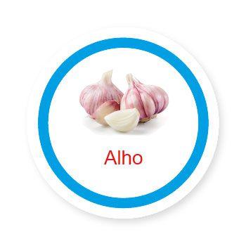 Ficha metálica de alimentos Alho   - Divertimente