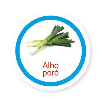 Ficha metálica de alimentos Alho Poró   - Divertimente