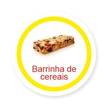 Ficha metálica de alimentos Barrinha de Cereais   - Divertimente