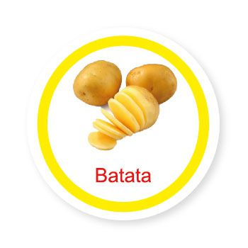 Ficha metálica de alimentos Batata  - Divertimente