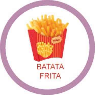 Ficha metálica de alimentos Batata frita  - Divertimente