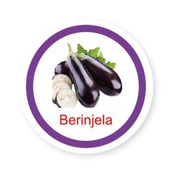 Ficha metálica de alimentos Berinjela   - Divertimente
