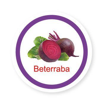 Ficha metálica de alimentos Beterraba   - Divertimente