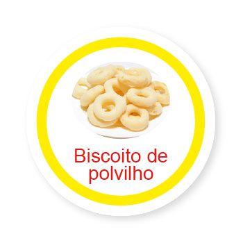 Ficha metálica de alimentos Biscoito de Polvilho   - Divertimente