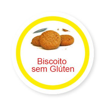 Ficha metálica de alimentos Biscoito sem Glúten  - Divertimente