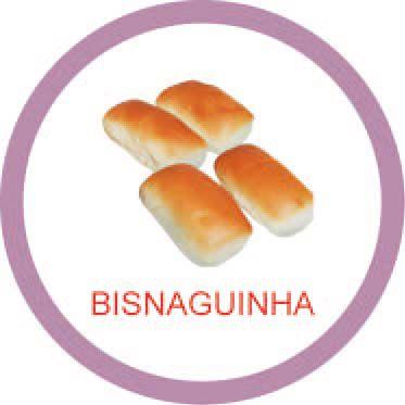 Ficha metálica de alimentos Bisnaguinha  - Divertimente