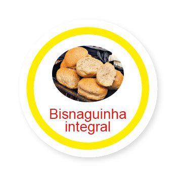 Ficha metálica de alimentos Bisnaguinha Integral   - Divertimente