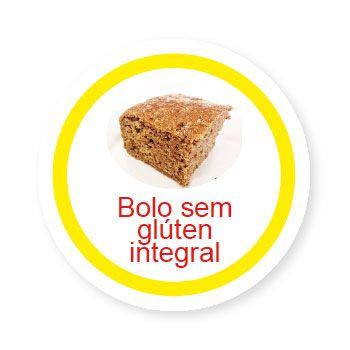 Ficha metálica de alimentos Bolo sem Glúten Integral   - Divertimente