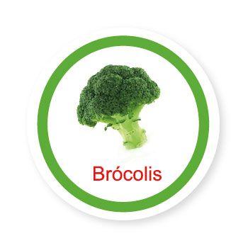Ficha metálica de alimentos Brócolis   - Divertimente