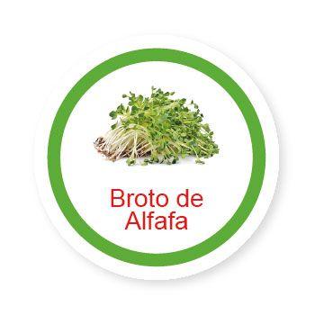 Ficha metálica de alimentos Broto de Alfafa