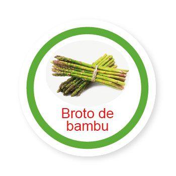 Ficha metálica de alimentos Broto de Bambu   - Divertimente