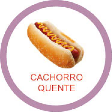 Ficha metálica de alimentos Cachorro quente  - Divertimente