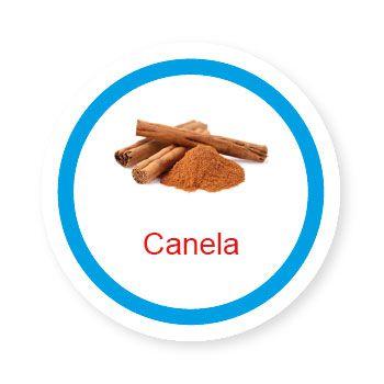 Ficha metálica de alimentos Canela   - Divertimente