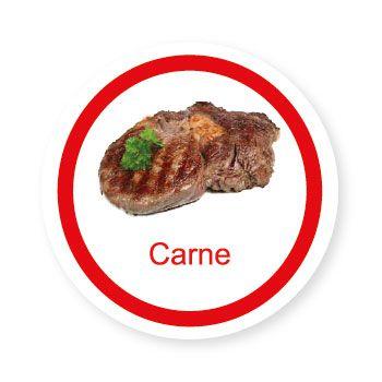 Ficha metálica de alimentos Carne   - Divertimente