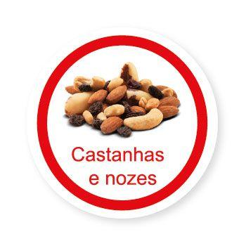 Ficha metálica de alimentos Castanhas e Nozes   - Divertimente