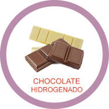Ficha metálica de alimentos Chocolate hidrogenado  - Divertimente