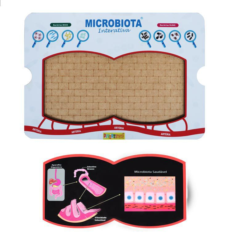 Combo 02- Microbiota Interativa + Escala de Bristol P vertical  - Divertimente