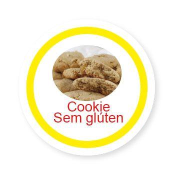 Ficha metálica de alimentos Cookie sem Glúten   - Divertimente