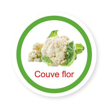 Ficha metálica de alimentos Couve Flor   - Divertimente