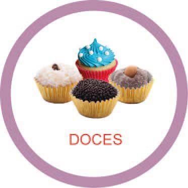 Ficha metálica de alimentos Doces  - Divertimente