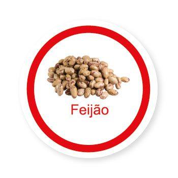 Ficha metálica de alimentos Feijão
