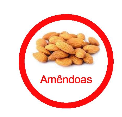Ficha metálica de alimentos Amêndoas