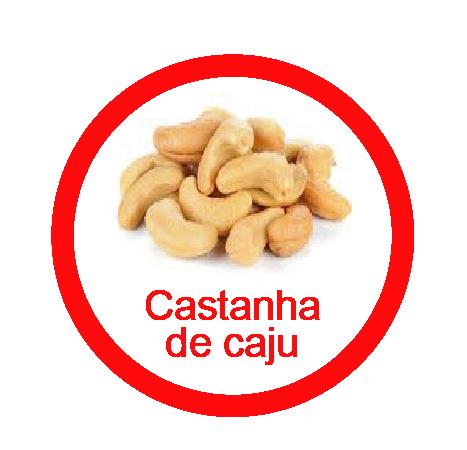 Ficha metálica de alimentos Castanha de Caju