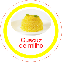 Ficha metálica de alimentos Cuscuz de Milho