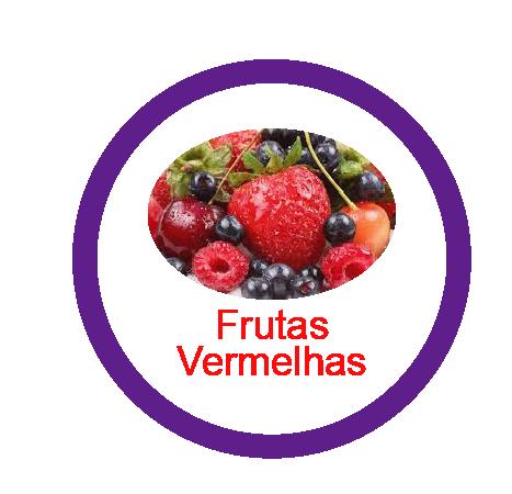Ficha metálica de alimentos Frutas Vermelhas
