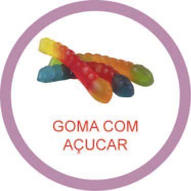 Ficha metálica de alimentos Goma com açucar  - Divertimente