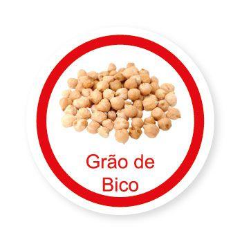 Ficha metálica de alimentos Grão de Bico   - Divertimente