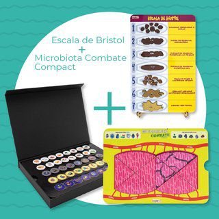 Kit 01 - Escala de Bristol + Microbiota Combate Compact  - Divertimente