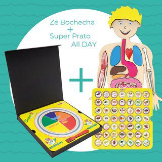 Kit 02: Zé Bochecha + Super Prato All Day  - Divertimente