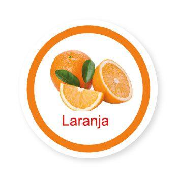 Ficha metálica de alimentos Laranja   - Divertimente